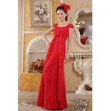 Wholesale - Off-the-shoulder Beading Empire Lace Zipper Wedding Dress
