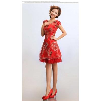 http://www.orientmoon.com/37942-thickbox/mandarin-collar-short-sleeve-knee-length-short-embroidery-cheongsam-chinese-dress.jpg
