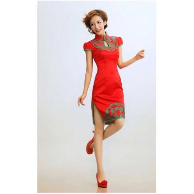 http://www.orientmoon.com/37952-thickbox/retro-mandarin-collar-short-sleeve-knee-length-short-cheongsam-chinese-dress.jpg