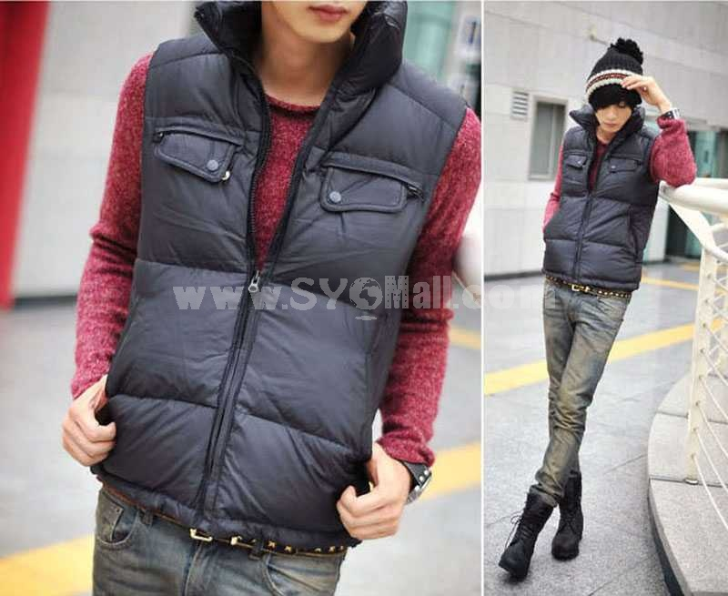 Trendy Leisure Stand-Collar Jacket/Vest (810-MY07)