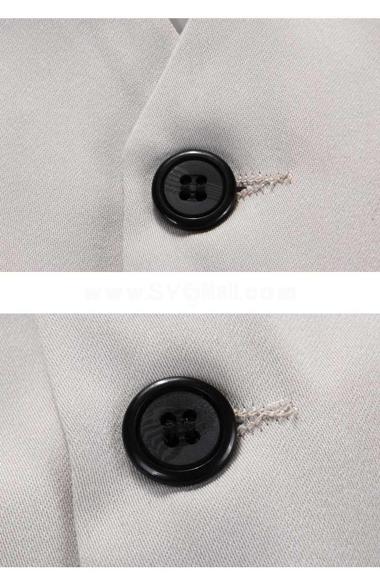 Fashionable Slim Pure-Color Vest for Spring/Autumn (1258-Q07)
