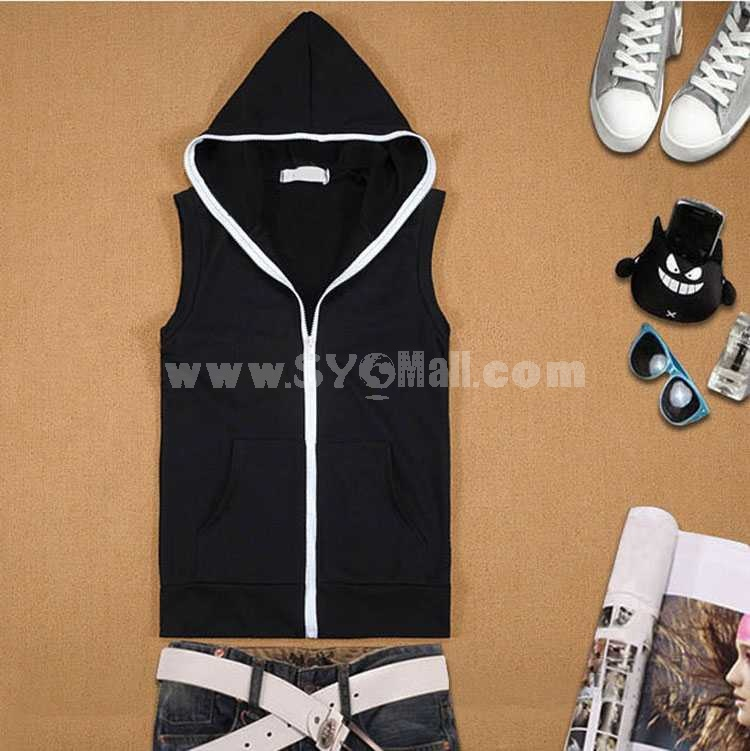 Trendy All-Match Fashionable Hooded Vest (1704-CY58)