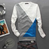 Wholesale - Fashionable Stitching Design V-Neck Sweater (1504-DT44)