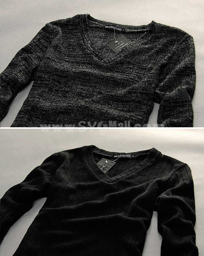 Hot-Selling Casual Thin Pure Color V-Neck Bottoming Knitwear (1612-MD11)