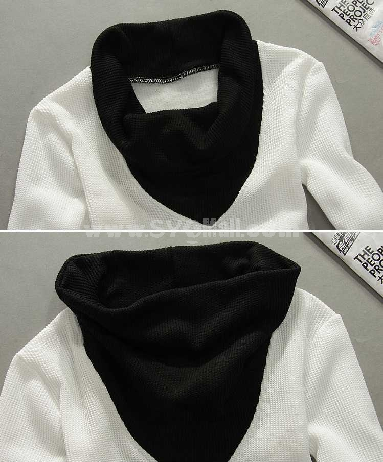 Fashionable Casual Turtle-Neck Bottoming Knitwear (1612-MD213)
