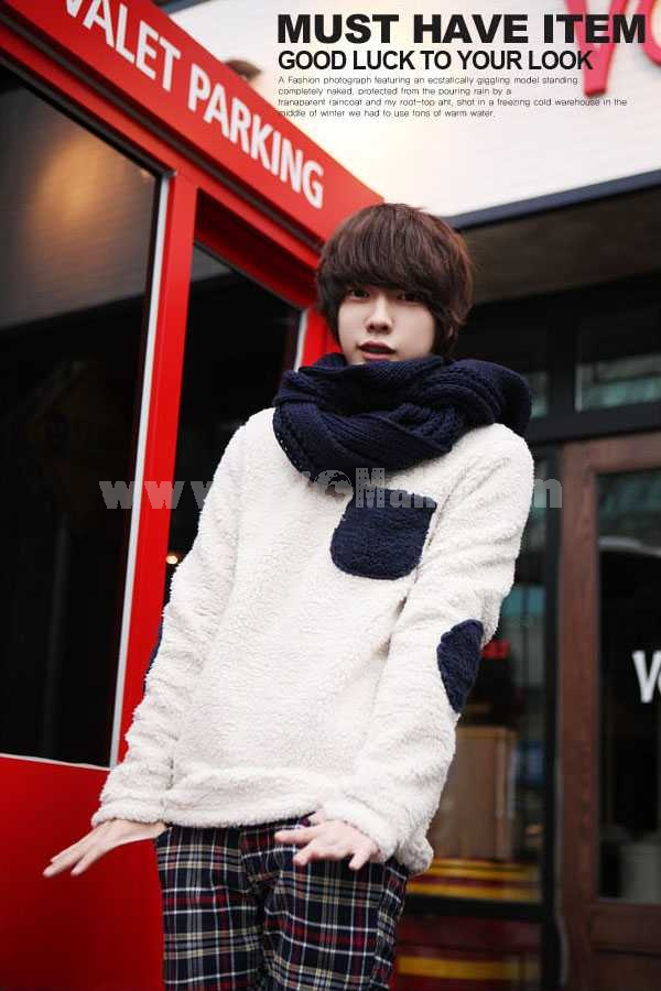 Fashionable Casual Patches Style Slim Sweater (1704-CY129)
