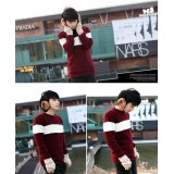 Wholesale - Trendy Casual Bicolor Slim Round-Neck Sweater (1402-H016)