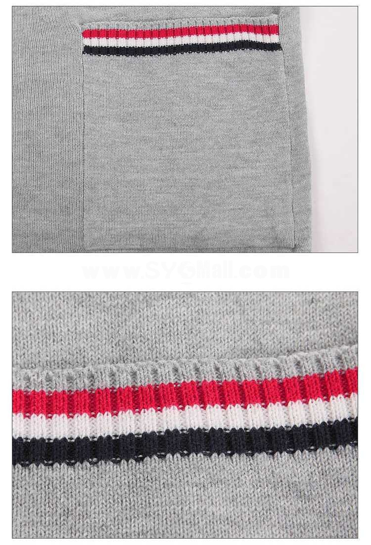 Fashionable Casual Slim Type V-Neck Pure Color Cardigan (702-Y38)