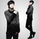 Wholesale - Fashionable Gradual Color Change Extra-Thick Turtle-Neck Bottoming Knitwear (1515-M105)