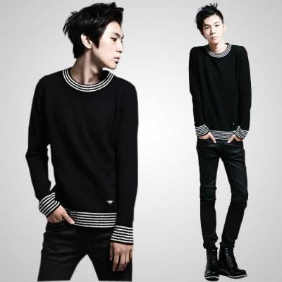 http://www.orientmoon.com/41941-thickbox/100-cotton-casual-round-neck-black-knitwear-with-stripe-neckline-hem-1515-m120.jpg