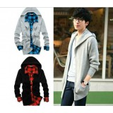 Wholesale - Simple Style Fashionable Pure Color Hooded Knitting Cardigan (1403-YJ540)