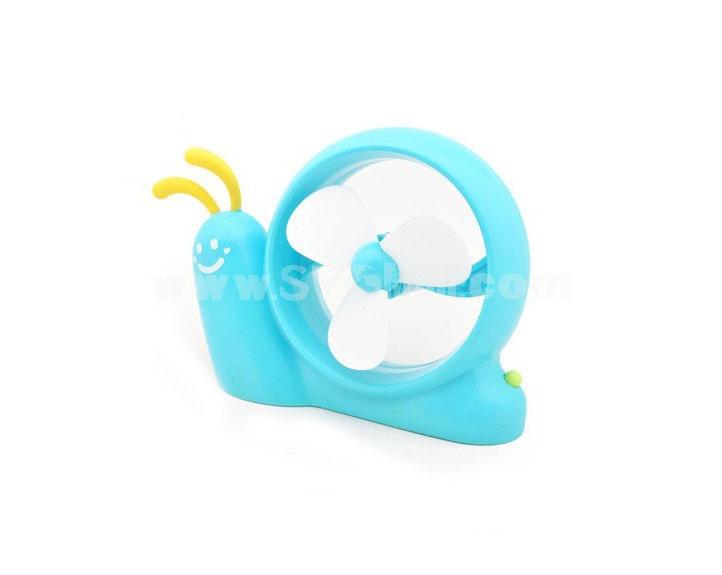 Colorful Snail Shaped USB Battery 2 in 1 Fan