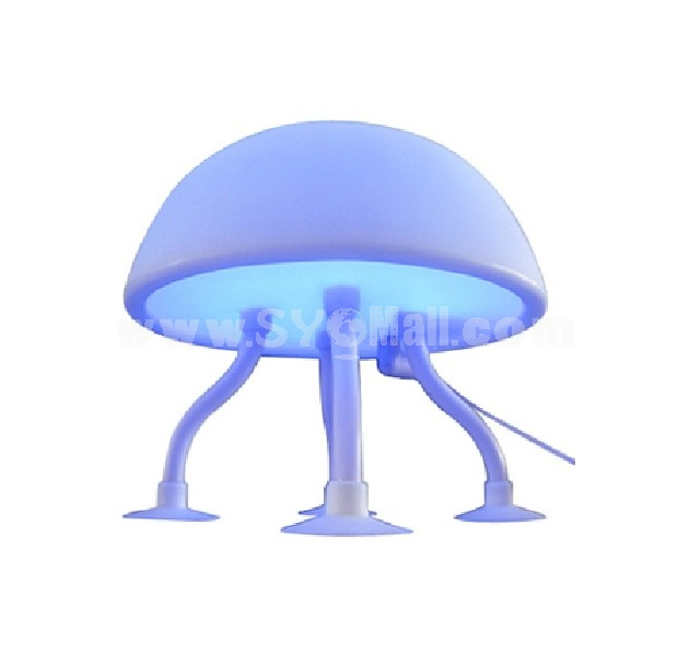 Creative Designed Jellyfish Shaped USB Battery 2 in 1 LED Night Light