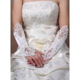 Wholesale - Satin Fingerless Elbow Length Bridal Gloves