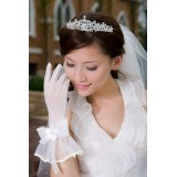 Wholesale - Tulle Wrist Length Bridal Gloves With Bow