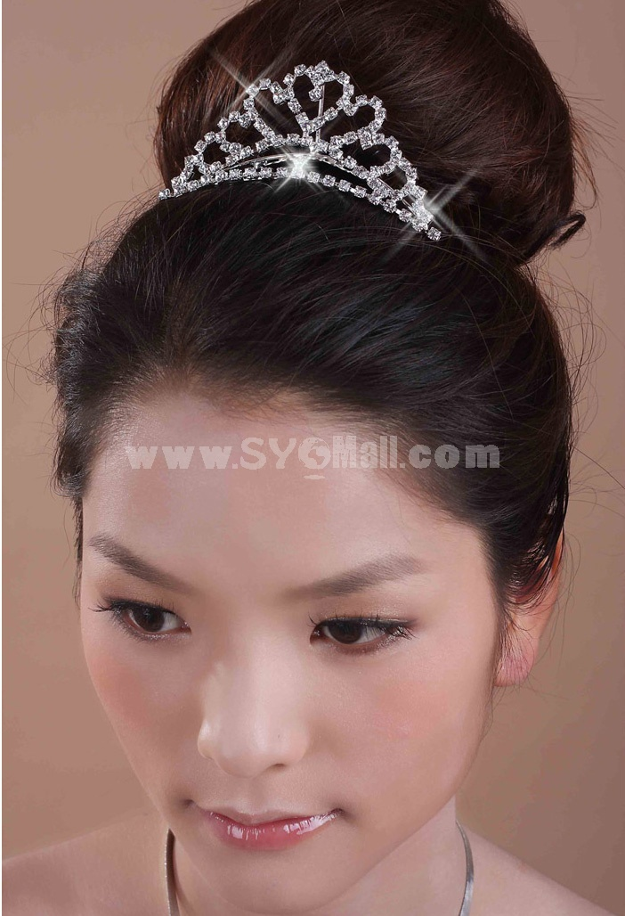 Sweet Shiny Rhinestone Bridal Tiara 11