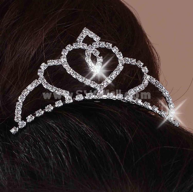 Beautiful Shiny Rhinestone Bridal Tiara 10