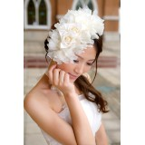 Wholesale - White Gorgeous Tulle/ Polyester Wedding Bridal Flower/ Corsage/ Headpiece 05