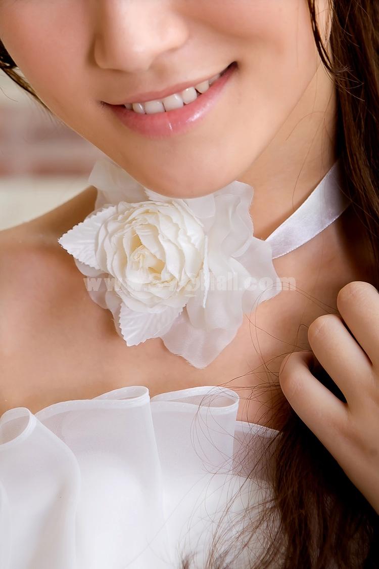 White Gorgeous Tulle/ Polyester Wedding Bridal Flower/ Corsage/ Headpiece 05
