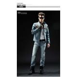 Wholesale - FBBOY Retro Style Slim Solid Denim Shirt Long Sleeves Denim Jacket Blouse F195