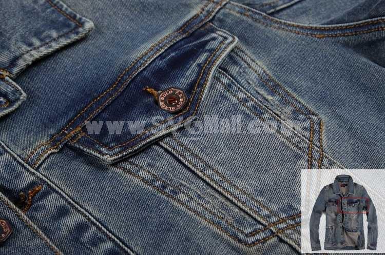 FBBOY Retro Style Slim Solid Denim Shirt Long Sleeves Denim Jacket Blouse F189