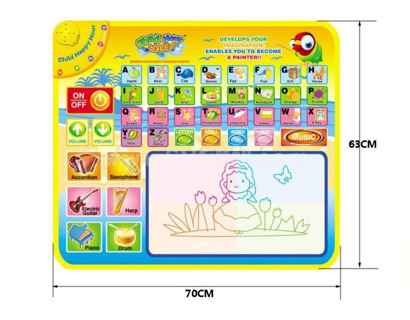 Baby English Touch Musical Blanket