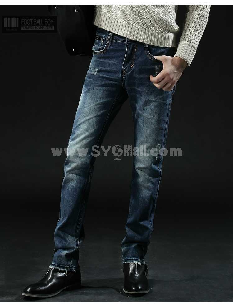 FBBOY Cotton Straight Denim Men Jeans Slim Causal Style F105