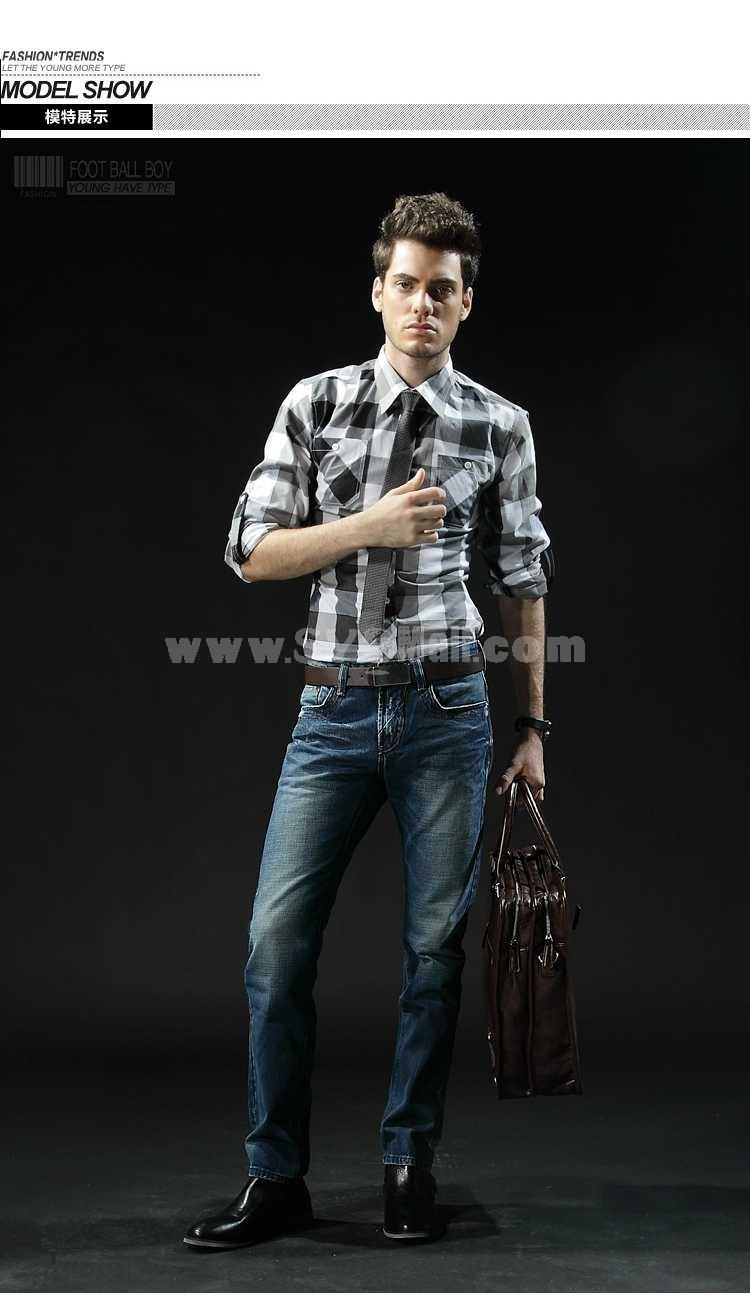 FBBOY Cotton Straight Denim Men Jeans Slim Causal Style F135