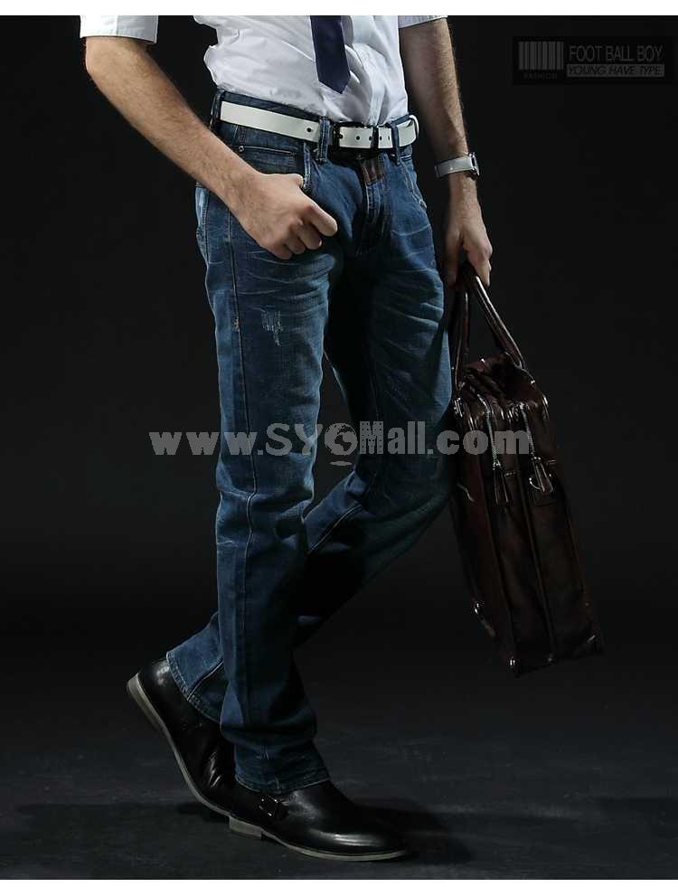 FBBOY Cotton Straight Denim Men Jeans Slim Causal Style F102