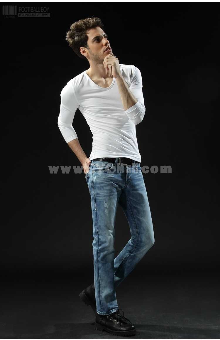 FBBOY Cotton Straight Denim Men Jeans Slim Causal Style F108