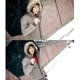 Wholesale - Hot-Selling Casual Hooded Cotton-Padded Coat (501B-B06)