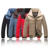 Wholesale - Fashionable Bicolor Lapel Casual Cotton-Padded Coat (501B-B145)