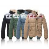 Wholesale - Lovely Fawns Pattern Slim Cotton-Padded Coat (501B-B146)