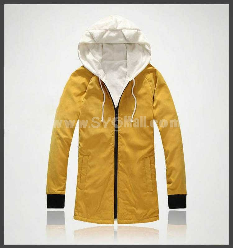 Cute Style Casual Cotton-Padded Coat with Inside and Outside Facets (1704-CY141)