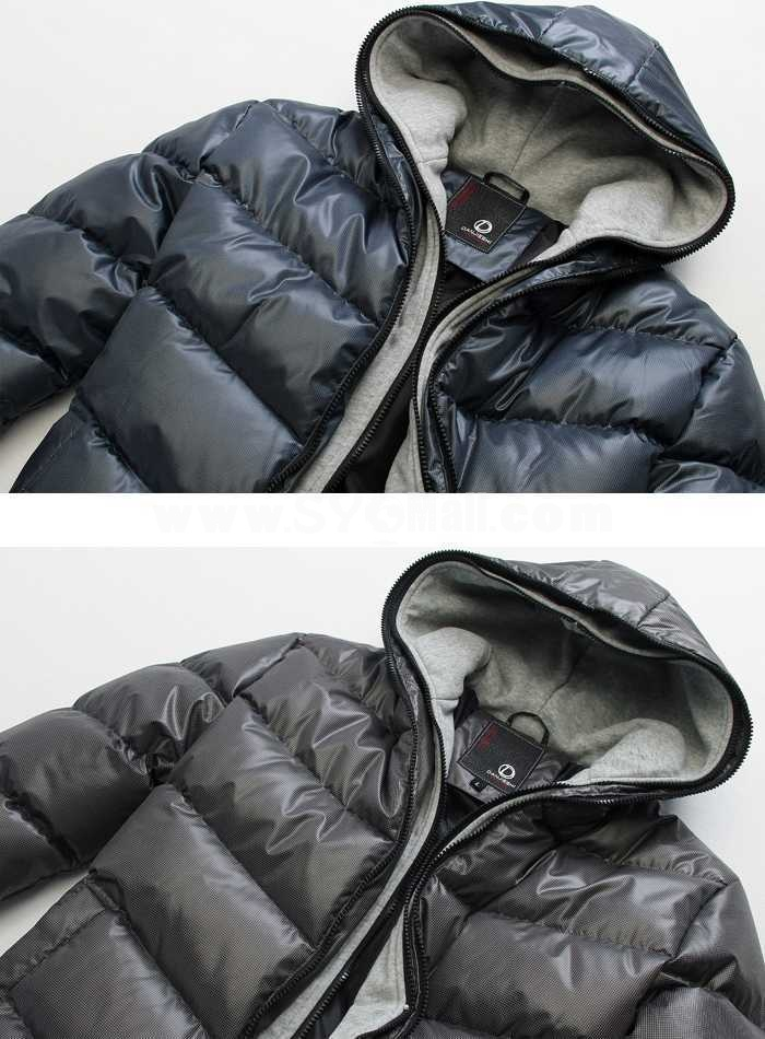Men's Coat Hooded Extra Thick Cotton Padded Trendy Casual  (1403-YJ559)