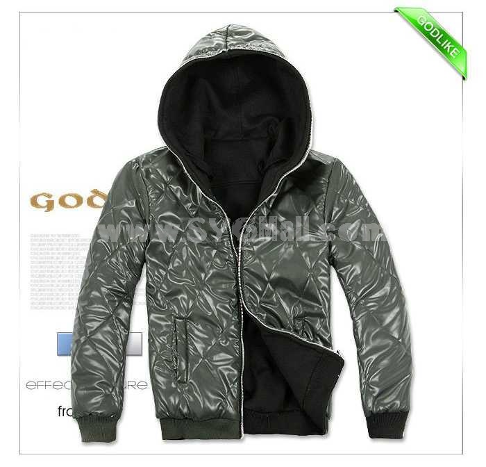 Men's Coat Cotton Padded with Inside and Outside Facets (10-702-051)