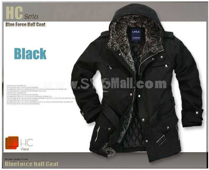 Men's Coat Cotton Padded Extra Thick Hooded (209-6280)