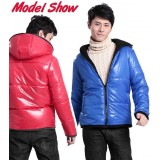 Wholesale - Men's Coat Cotton Padded Hooded Slim Fashion (12-210A-110)
