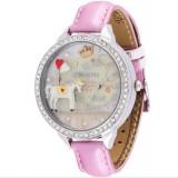 Wholesale - MINI Clay Quartze Round Dial Waterproof Watch Rhinestone Cartoon Creative PVC Band Watch mnS1018B