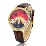 Wholesale - MINI 3D Watch Quartze Round Dial Waterproof Watch Rhinestone Cartoon Creative PVC Band Watch mn1048