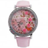 Wholesale - MINI Quartze Round Dial Waterproof Watch Rhinestone Cartoon Creative PVC Band Watch mn1055