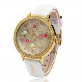 Wholesale - MINI Quartze Round Dial Double-layer Waterproof Watch Rhinestone Cartoon Creative PVC Band Watch mn1065
