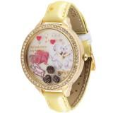 Wholesale - MINI Quartze Round Dial Waterproof Watch Rhinestone Cartoon Creative PVC Band Watch MNS905B