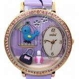 Wholesale - MINI Quartze Round Dial Waterproof Watch Rhinestone Cartoon Creative PVC Band Watch mn1011