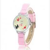 Wholesale - MINI Quartze Round Dial Waterproof Watch Cartoon Creative PVC Band Watch mn918