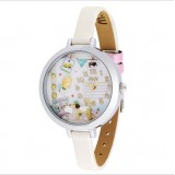 Wholesale - MINI Quartze Round Dial Waterproof Watch Cartoon Creative PVC Band Watch mn971