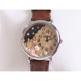 Wholesale - MINI Quartze Round Dial Waterproof Watch Cartoon Creative PVC Band Watch mn891