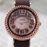 Wholesale - MINI Quartze Round Dial Waterproof Watch Cartoon Creative PVC Band Watch mn949C