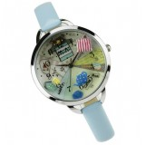 Wholesale - MINI Quartze Round Dial Waterproof Watch Cartoon Creative PVC Band Watch mn895