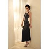 Wholesale - V-neck Meimaid Cotton Soild Color Sleeveless Party Dress